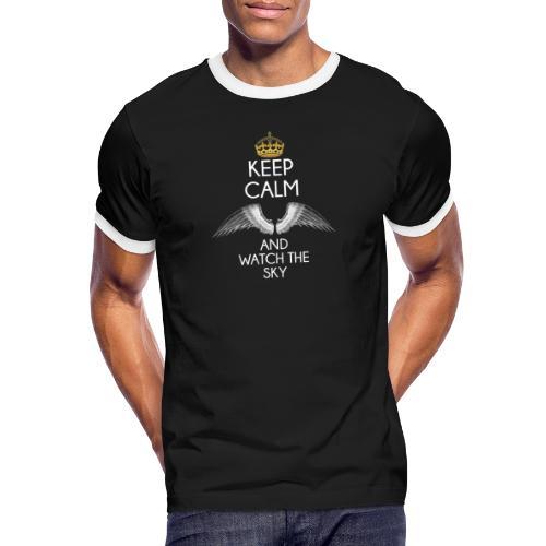 Keep Calm - Koszulka męska z kontrastowymi wstawkami
