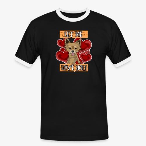 Engla says Let me love you! - Kontrast-T-shirt herr