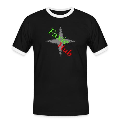 FaxieHub - Herre kontrast-T-shirt