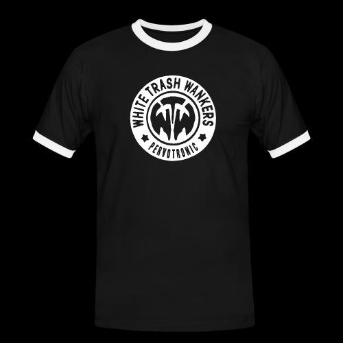 White Trash Wankers Pervotronic-Logo - Männer Kontrast-T-Shirt