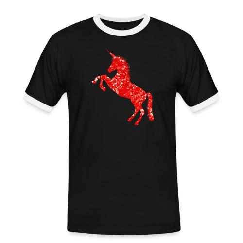 unicorn red - Koszulka męska z kontrastowymi wstawkami