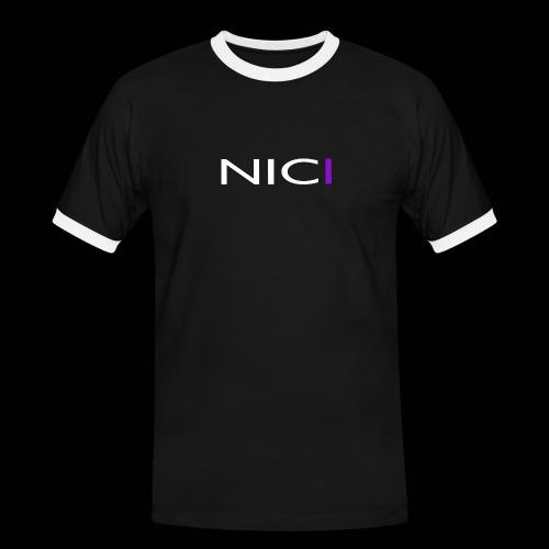 NICI logo WHITE - Miesten kontrastipaita
