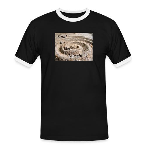 Sand in der Muschi - Männer Kontrast-T-Shirt