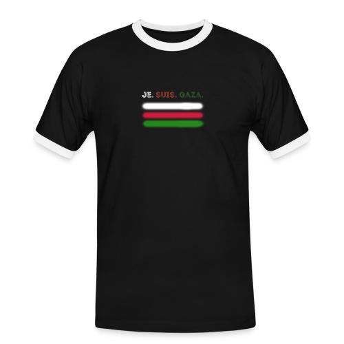 Je Suis Gaza - Herre kontrast-T-shirt