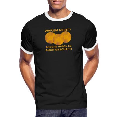 Goldene Schallplatte - Männer Kontrast-T-Shirt