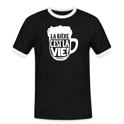 bière, la bière c'est la vie - T-shirt contrasté Homme