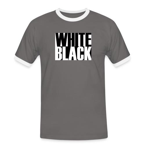 White, Black T-shirt - Mannen contrastshirt