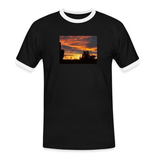 Tramonto rosso - Maglietta Contrast da uomo