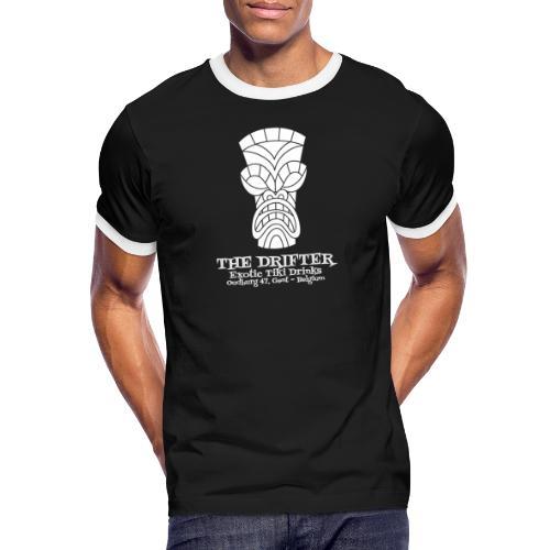 tshirt logo wit - Mannen contrastshirt