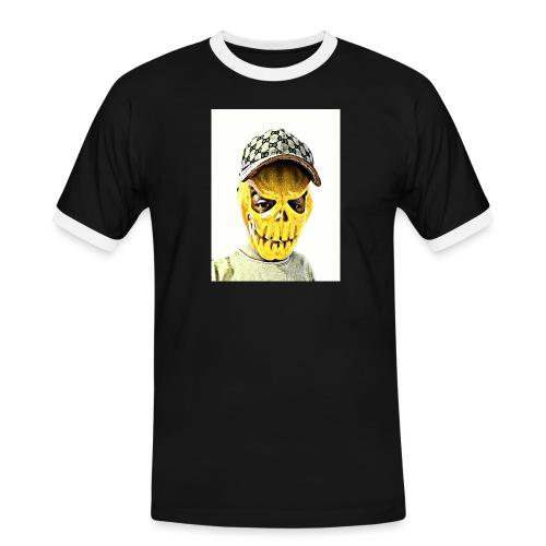 Gelber PMKM - Männer Kontrast-T-Shirt