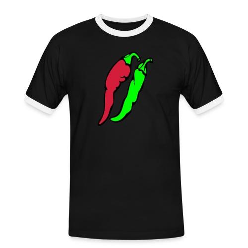 Chilli - Koszulka męska z kontrastowymi wstawkami