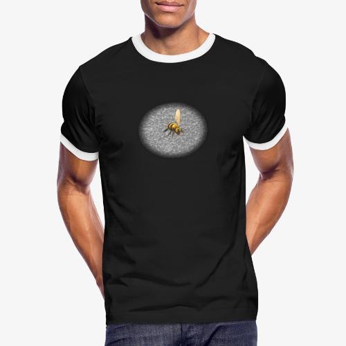 biene mit steienen - Männer Kontrast-T-Shirt