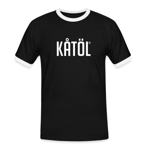 kåtöl_text_white - Kontrast-T-shirt herr