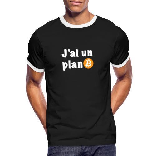 Plan Btc - T-shirt contrasté Homme