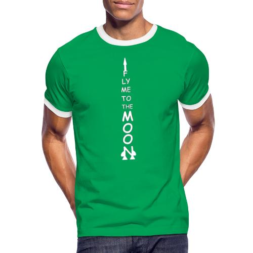 Fly me to the moon (MS paint version) - Mannen contrastshirt
