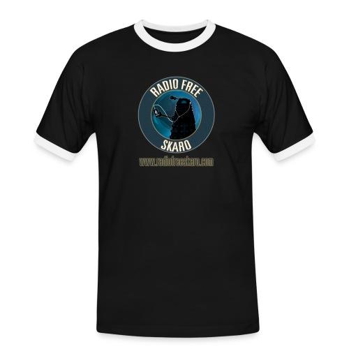 Radio Free Skaro Logo 2011 navy png - Men's Ringer Shirt