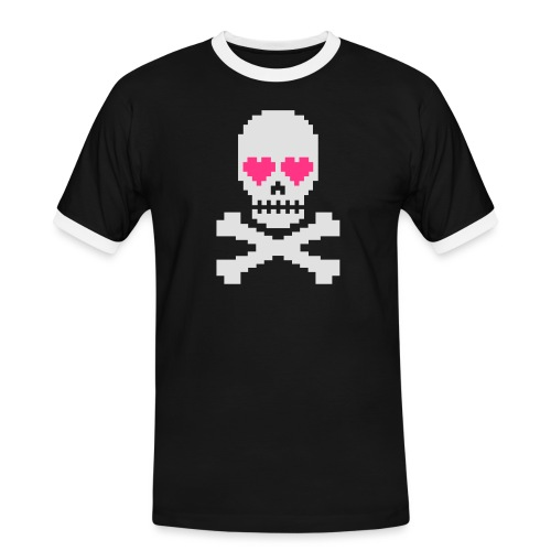 Skull Love - Mannen contrastshirt