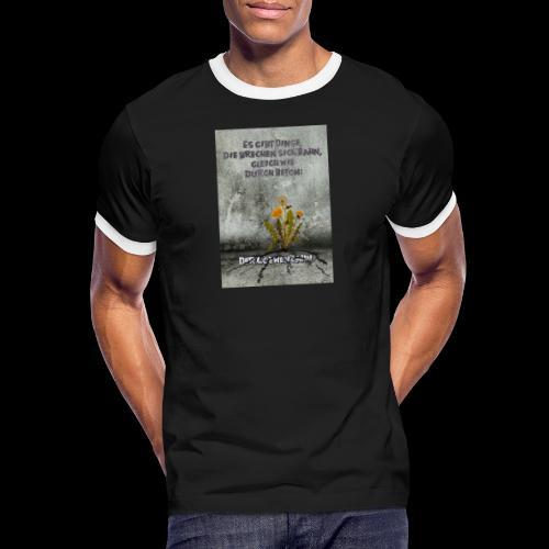 durchbruch - Männer Kontrast-T-Shirt