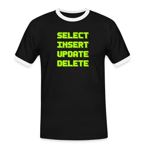 SQL pixelart black - Männer Kontrast-T-Shirt