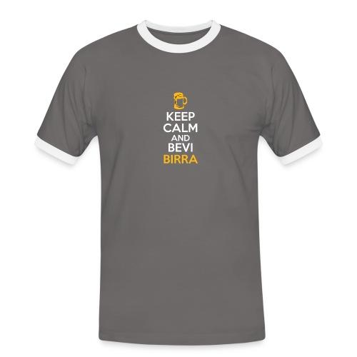 KEEP CALM AND BEVI BIRRA - Maglietta Contrast da uomo