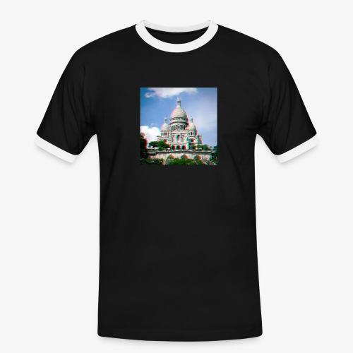SacreCoeur Anaglyph - Männer Kontrast-T-Shirt