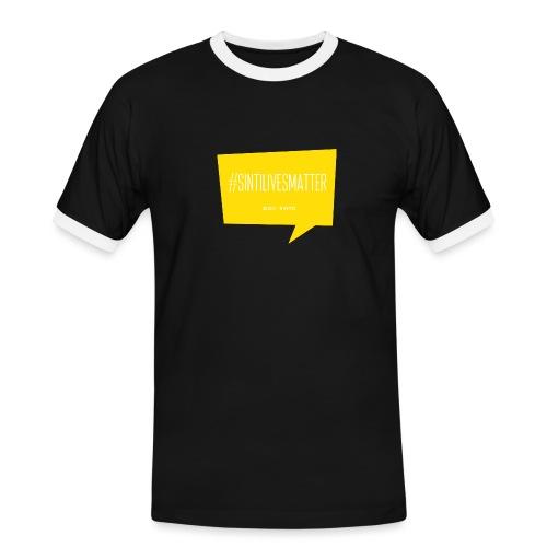 Sinti Lives Matter - Männer Kontrast-T-Shirt