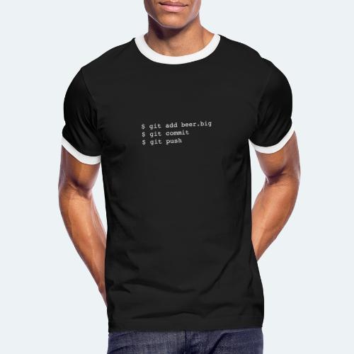 Bier Git Befehle Geschenk für Informatiker - Männer Kontrast-T-Shirt