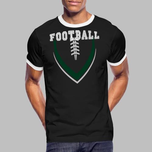 Football LOGO Ball American Football Geschenkidee - Männer Kontrast-T-Shirt