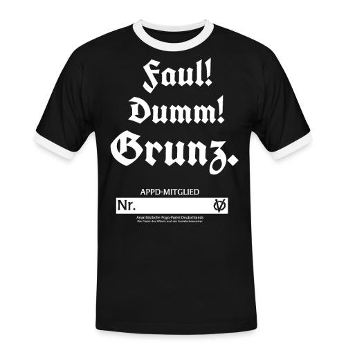 Faul! Dumm! Grunz. - APPD Mitglied - Männer Kontrast-T-Shirt