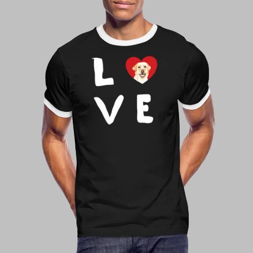 love Labrador Hundebesitzer Hundezüchter Geschenke - Männer Kontrast-T-Shirt