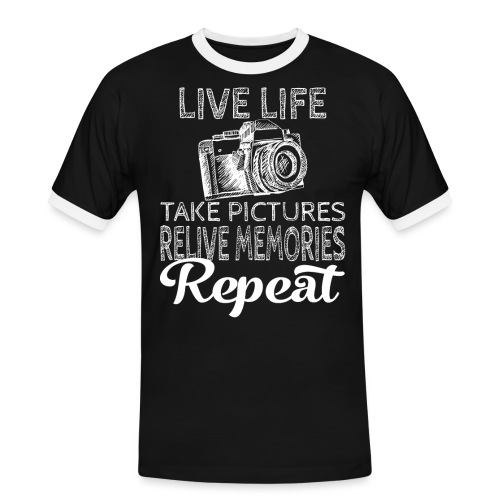 Take Pictures Skizzierter Fotoapparat Fotografie - Männer Kontrast-T-Shirt