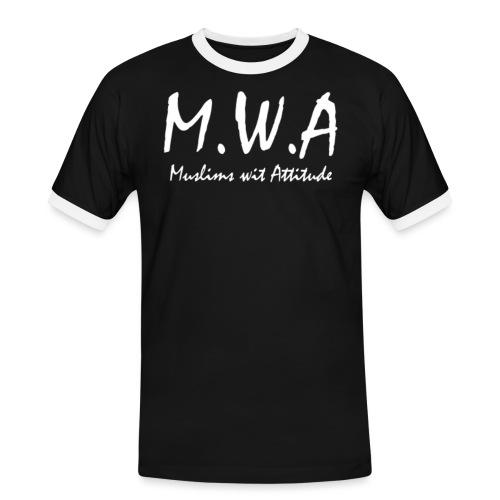 M.W.A - Männer Kontrast-T-Shirt