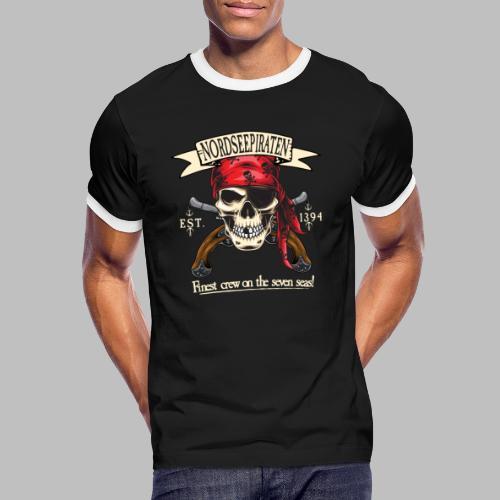 Nordseepiraten Piratenschädel Totenkopf Geschenke - Männer Kontrast-T-Shirt