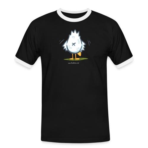 popohuhnDRUCK png - Männer Kontrast-T-Shirt