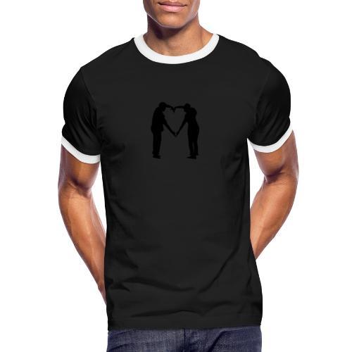 silhouette 3612778 1280 - Kontrast-T-shirt herr