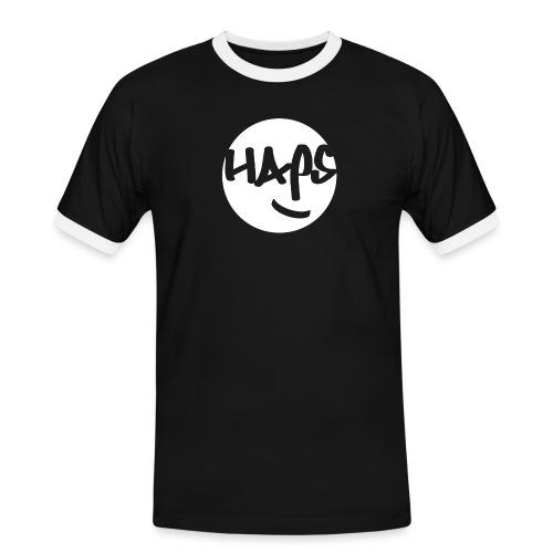 HAPS White Logo - Men's Ringer Shirt