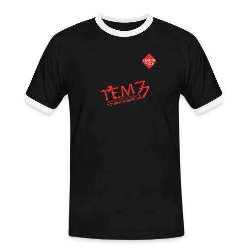 logoTEM77_def_rouge_lp - T-shirt contrasté Homme