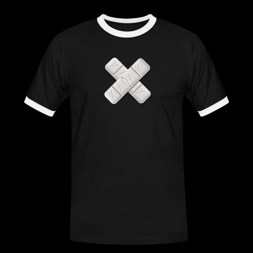 Xanax X Logo - Männer Kontrast-T-Shirt