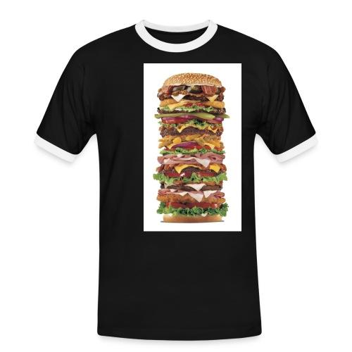 fakebigburger - Kontrast-T-skjorte for menn