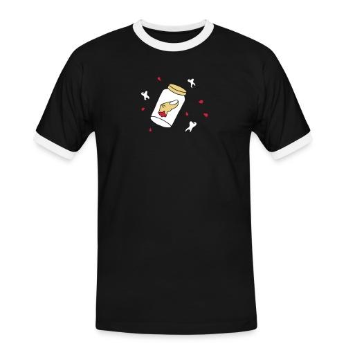 Finger Zähne Blut blood teeth Halloween Mafia Game - Männer Kontrast-T-Shirt