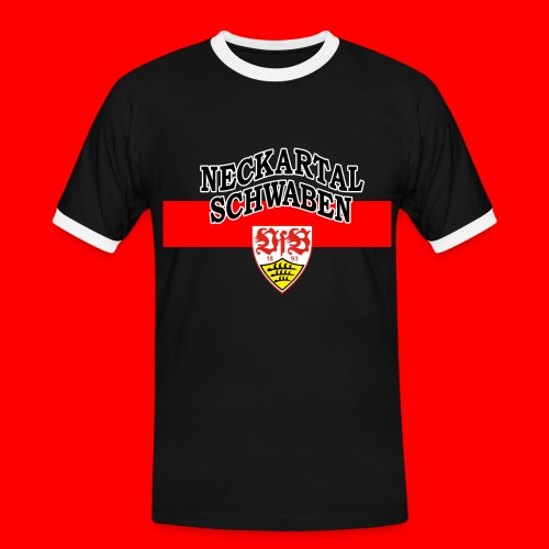 NTS-Logo DA - Männer Kontrast-T-Shirt