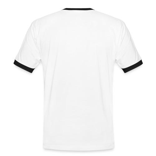 LOGO deepArtSounds Weiss Transparent gif - Men's Ringer Shirt