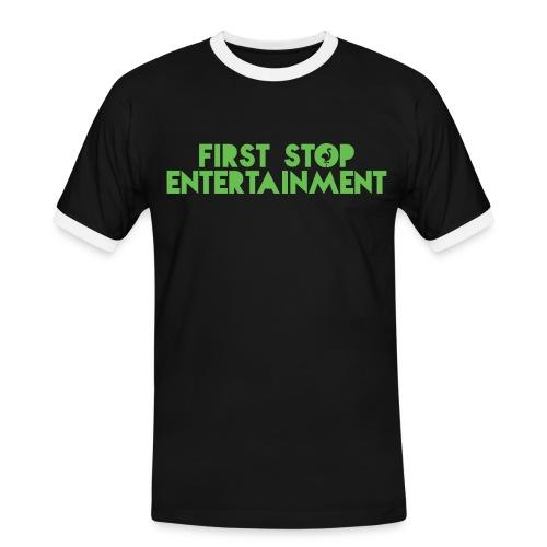 FSE text logo.png - Kontrast-T-skjorte for menn
