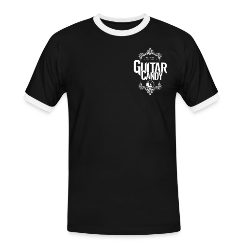 vertical logo white trans bg png - Men's Ringer Shirt