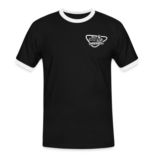 badlarry siebdruckfarbe weiss - Männer Kontrast-T-Shirt