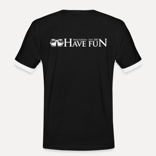 Logo Have Fun Malfurion - Männer Kontrast-T-Shirt