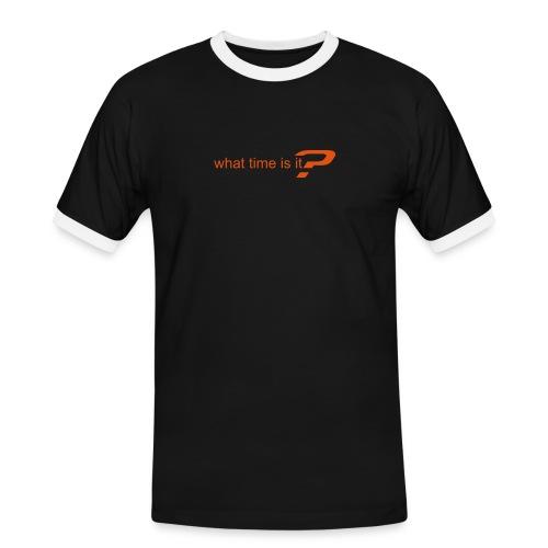 What Time Frage - Männer Kontrast-T-Shirt