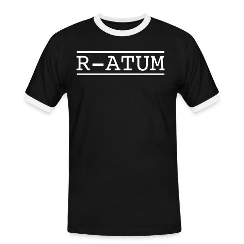 R-ATUM logo blanc - T-shirt contrasté Homme