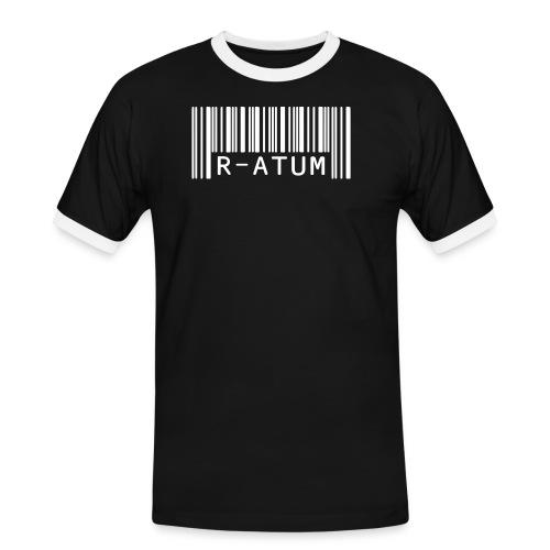 R-ATUM Code Barre Blanc - T-shirt contrasté Homme
