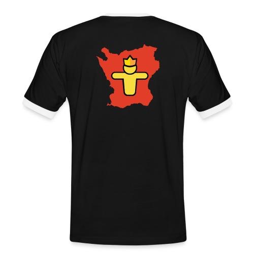 Turf Skåne symbol - Kontrast-T-shirt herr